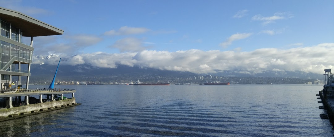a gorgeous view of the mountains and the Bay in Vancouver