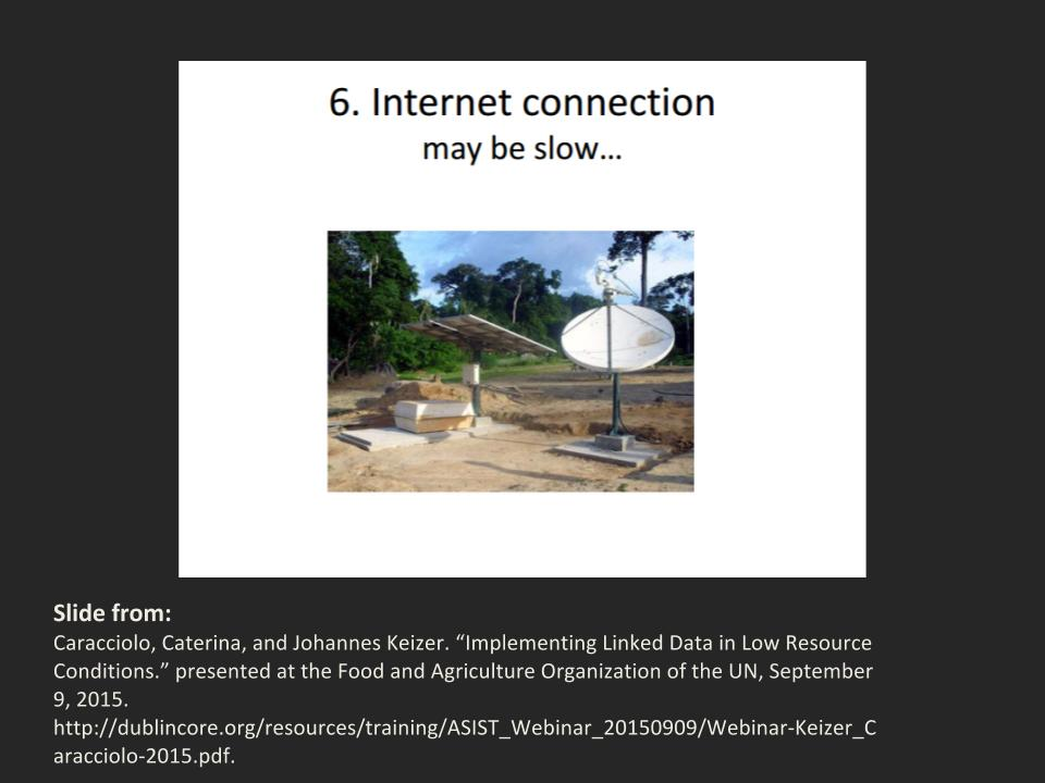 Slide from Implementing Linked Data in Low Resource Conditions
